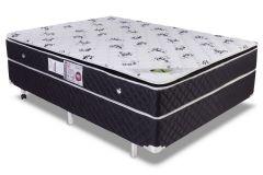 Conjunto Cama Box - Colchão Luckspuma de Molas Bonnel Aspen + Cama Box Universal Couríno Black