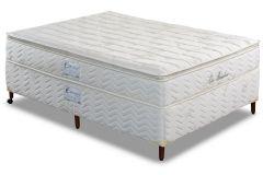 Conjunto Box - Colchão Paropas de Molas LFK Eco Bamboo + Cama Box Universal Couríno White