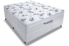Conjunto Cama Box - Colchão Probel de Molejo Ensacado Pró Dormir + Cama Box Universal Couríno White
