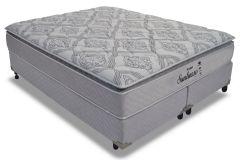 Conjunto Cama Box - Colchão Probel de Molas Prolastic Suntuoso + Cama Box Universal Couríno White