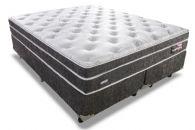 Conjunto Box - Colchão Sealy de Molas Posturepedic Titanium Slipstream Plush + Cama Box Universal Nobuck Black