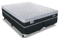 Conjunto Cama Box - Colchão Sealy de Molas Pocket Concept Dream Black + Cama Box Universal Nobuck Nero Black