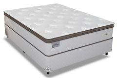 Conjunto Cama Box - Colchão Sealy de Molas Posturetech/Posturepedic Lifetimes + Cama Box Universal Couríno White