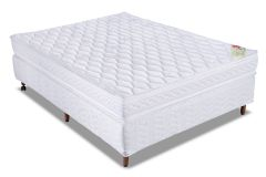 Conjunto Cama Box - Colchão Orthocrin de Espuma D45 Royal Plus  + Cama Box Universal Couríno White