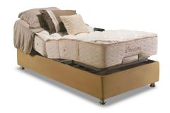 Conjunto Cama Box - Colchão Herval de Molas Pocket Ajustable Com Massagem  MH 1430 + Cama Box Regulável