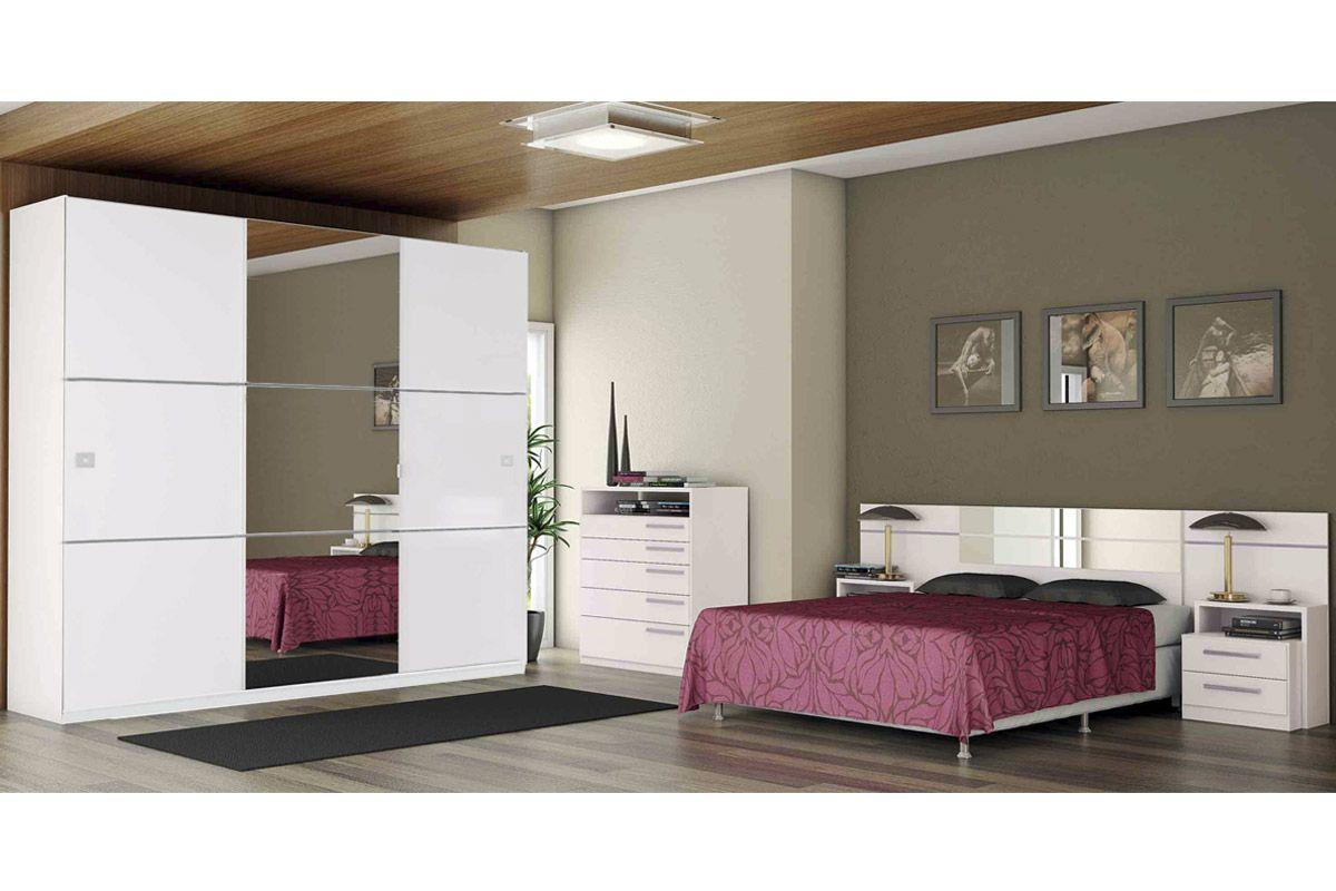 Quarto de casal completo kappesberg qc06 guarda roupa for Conjunto de dormitorio completo