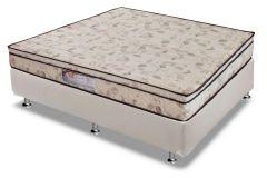 Conjunto Cama Box - Colchão Paropas Ortopédico Wood Pasquale Anatômico + Cama Box Universal Couríno White
