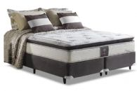 Conjunto Cama Box - Colchão Herval de Molas Pocket Dream Sensation + Cama Box Universal Nobuck Black