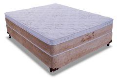 Conjunto Box - Colchão Probel de Molas Pocket Versailles Multilastic + Cama Box Universal Nobuck Rosolare Café