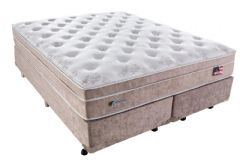 afc042195 Conjunto Cama Box - Colchão Sealy de Molas Pocket Miami + Cama Box  Universal Courino Bianco