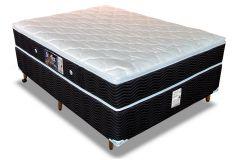 Conjunto Cama Box - Colchão Orthoflex de Molas Bonnel Starflex Spring Bamboo + Cama Box Universal Couríno Black