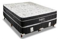 Conjunto Box - Colchão Orthoflex de Molas Pocket Seleto Eurotop Bamboo + Cama Box Universal Couríno Black