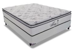 Conjunto Cama Box - Colchão Probel de Molas Prolastic Tiffany + Cama Box Universal Couríno White