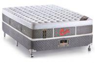Conjunto Box - Colchão Castor de Molas Pocket Light Stress Oxygen New Plush + Cama Box Universal Courino White
