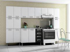 Cozinha Completa Itatiaia Premium de Aço c/ 5 Peças (2 Paneleiros+2 Armários+Gabinete) Kit CZ22