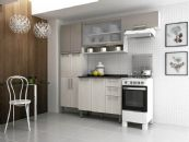 Cozinha Completa Itatiaia Avelã de Madeira Kit 4 Peças CZ042