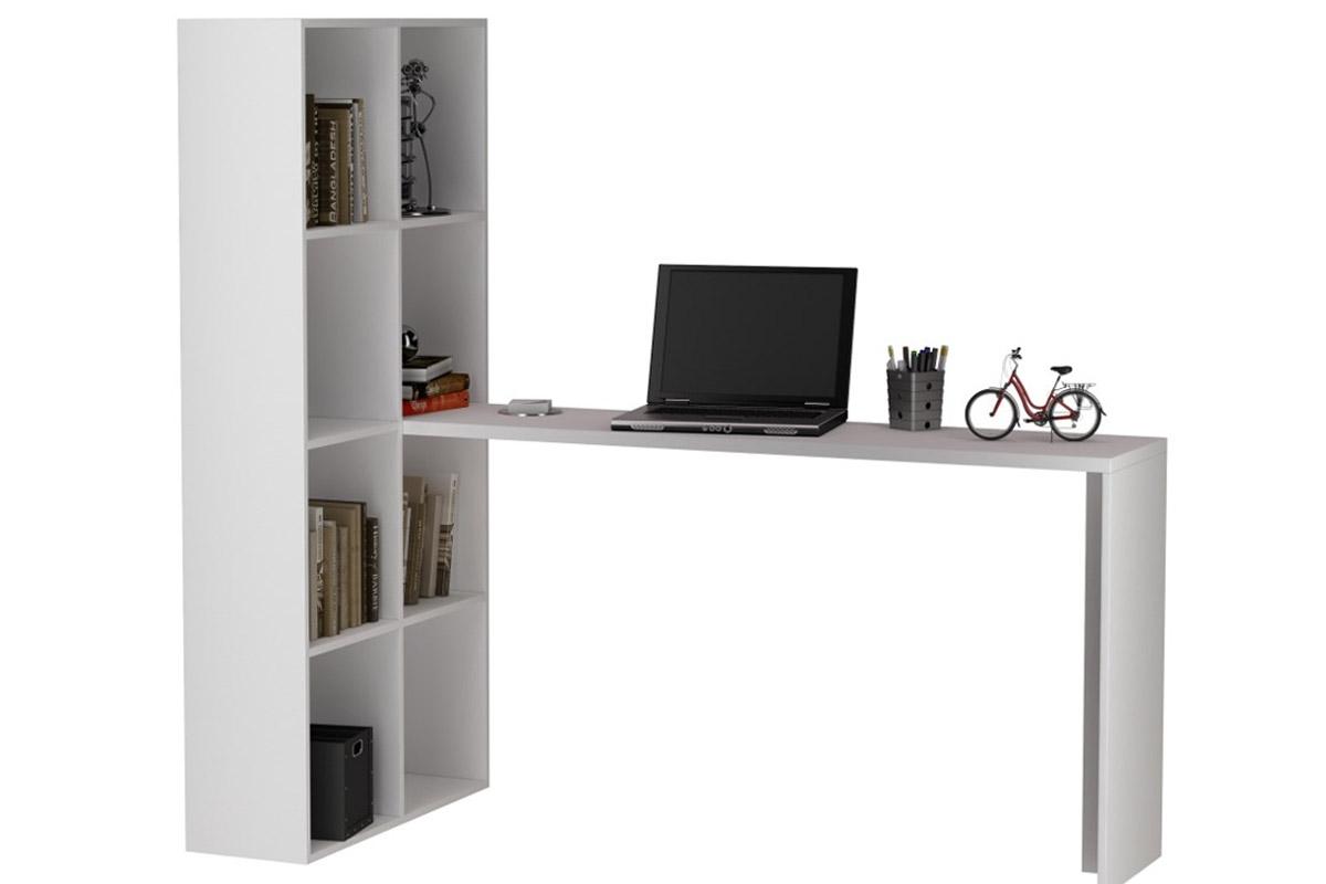 Escrivaninha Estante BRV BE 38 Cor Branco Costa Rica Colchões #604839 1200x800