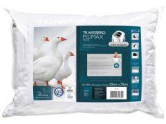 Travesseiro Fibrasca Plumax Conforto Pluma de Ganso Regulável