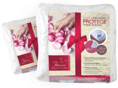 Lençol Protetor Fibrasca Protege Toque de Rosas Impermeável