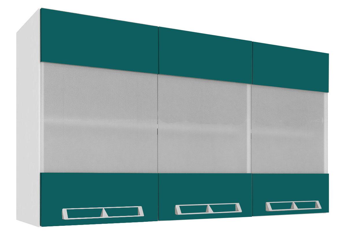 #005456 de Cozinha Art In Móveis Aéreo CZ416 Madeira c/ 3 Portas c/ Vidro  340 Janelas De Vidro Temperado Ou Madeira