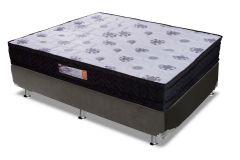 Conjunto Cama Box - Colchão Paropas de Espuma D33 Master Black + Cama Box Universal Couríno Black