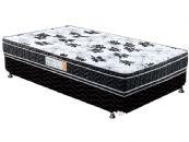 Conjunto Box - Colchão Paropas de Espuma Vitally 50 Black + Cama Box Universal Couríno Black
