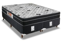 Conjunto Cama Box - Colchão Orthoflex Ortopédico Foggia Sogni + Cama Box Universal Couríno Black