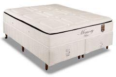 Conjunto Box - Colchão Orthoflex de Molas Pocket Memory White + Cama Box Universal White