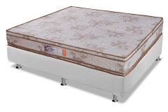 Conjunto Cama Box - Colchão Paropas de Espuma D33 Master + Cama Box Universal Couríno White