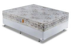 Conjunto Box - Colchão Paropas de Espuma Ortopédica Master + Cama Box Universal Couríno White