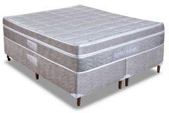 Conjunto Box - Colchão Paropas de Molas Pocket Espetaculum Dualsense  + Cama Box Universal Couríno White