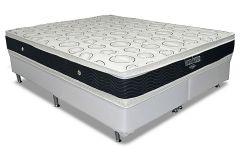 Conjunto Cama Box - Colchão Ortobom de Molas Nanolastic Ventura Premium Duplo + Cama Box Universal Couríno White