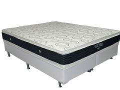 Conjunto Box - Colchão Ortobom de Molas Nanolastic Ventura Premium Duplo + Cama Box Universal Couríno White