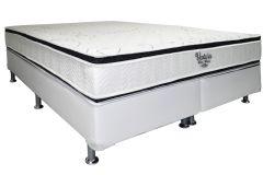 Conjunto Cama Box - Colchão Ortobom de Molas Nanolastic Ventura Duo Zone + Cama Box Universal Couríno White