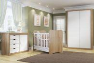 Quarto Infantil (Bebê) Completo Multimóveis Chantilly QI28 (Guarda Roupa+Berço+Cômoda)