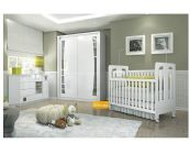 Quarto Infantil (Bebê) Completo Henn Erva Doce QI02 (Guarda Roupa+Berço+Cômoda)
