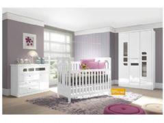 Quarto Infantil (Bebê) Completo Henn Maça do Amor QI04 (Guarda Roupa+Berço+Cômoda)