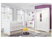 Quarto de Bebê Completo Henn Favo de Mel QBFM01 (Berço+Guarda Roupa+Cômoda)