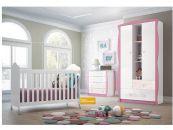 Quarto Infantil (Bebê) Completo Henn Arco Ìris QI01 (Guarda Roupa+Berço+Cômoda)