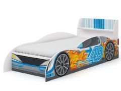 Cama Infantil Kappesberg Carro Azul D300