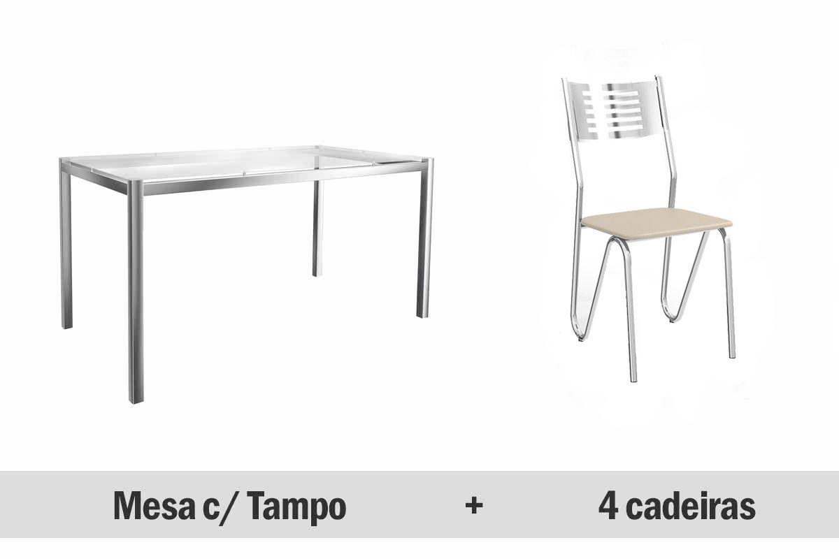 Conjunto Sala de Jantar Conjunto de Mesa Kappesberg Reno   4 Cadeiras #2D2F32 1200x800