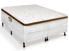 Conjunto Box - Colchão Castor de Molas Bonnel Bambu + Cama Box Universal Couríno White