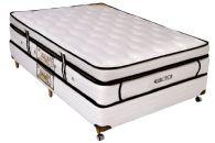Conjunto Box - Colchão Castor de Molas Pocket Eurotop Supreme + Cama Box Universal Couríno White