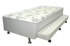 Conjunto Cama Box + Colchão Conjugado Ortobom Ortopédico c/ Auxiliar Couríno Bianco (Obrigatório a compra Cama Box + Auxiliar)