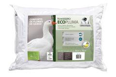 Travesseiro Fibrasca Ecopluma Conforto de Pluma de Ganso