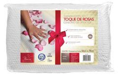 Travesseiro Fibrasca Conforto de Látex Top Toque de Rosas