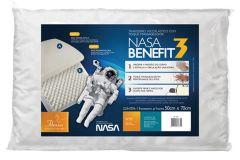Travesseiro Fibrasca Nasa Benefit 3 Visco Látex Massageador