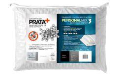 Travesseiro Fibrasca Personal Mix Ajustável 3 Alturas Visco Latex Íons de Prata