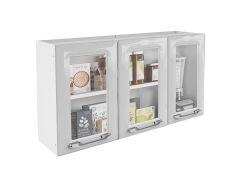 Armário de Cozinha Itatiaia Criativa IPV3-105 MX Aço c/ 3 Portas c/ Vidro 105cm