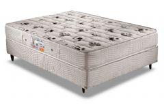 Conjunto Box - Colchão Orthoflex de Espuma D45 Comfortpedic Line  + Cama Box Universal Couríno White